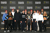 Monster Energy NASCAR Cup Series<br /> Federated Auto Parts 400<br /> Richmond Raceway, Richmond, VA USA<br /> Saturday 9 September 2017<br /> Martin Truex Jr and the Regular Season Championship trophy with Furniture Row Racing, Toyota and TRD executives<br /> World Copyright: Lesley Ann Miller<br /> LAT Images