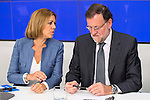 General Secretary of the PArtido Popular, Maria Dolores de Cospedal and the president of the Partido Popular, Mariano Rajoy during the meeting of the National Executive Committee of the Partido Popular (PP) in Madrid, Spain, November 05, 2015. <br /> (ALTERPHOTOS/BorjaB.Hojas)