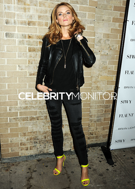 NEW YORK CITY, NY, USA - SEPTEMBER 03: Actress Erin Richards arrives at the Flaunt Magazine Distress Issue Launch held at Gilded Lily on September 3, 2014 in New York City, New York, United States. (Photo by Celebrity Monitor)