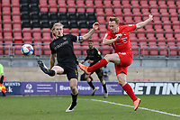 Danny Johnson of Leyton Orient goes close during Leyton Orient vs Oldham Athletic, Sky Bet EFL League 2 Football at The Breyer Group Stadium on 27th March 2021