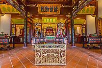 George Town, Penang, Malaysia.  Main Prayer Hall of Cheah Kongsi, a Hokkien Clan Association Temple and Clan House.