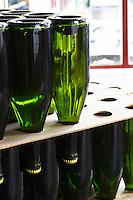 Bottles stored in the cellar. Vallformosa, Vilobi, Penedes, Catalonia, Spain