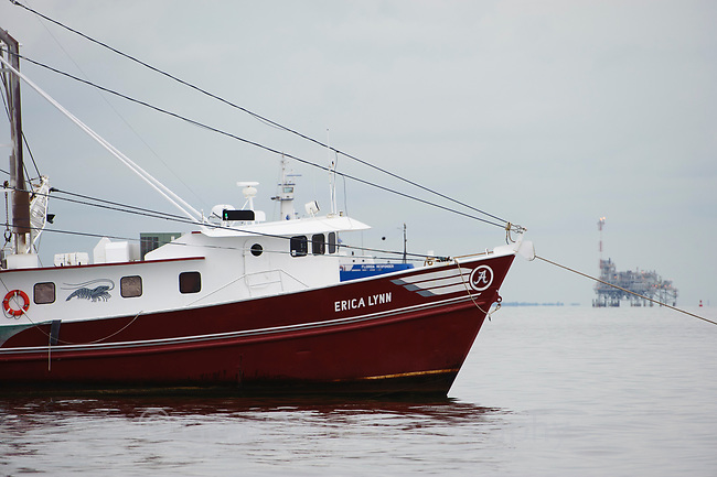 Oil spill response vessels in Mobile Bay. Mobile County, Alabama. July.