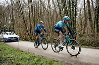 Hugo Houle (CAN/Astana - Premier Tech)  crossing the Plugstreets<br /> <br /> 83rd Gent-Wevelgem - in Flanders Fields (ME - 1.UWT)<br /> 1 day race from Ieper to Wevelgem (BEL): 254km<br /> <br /> ©kramon