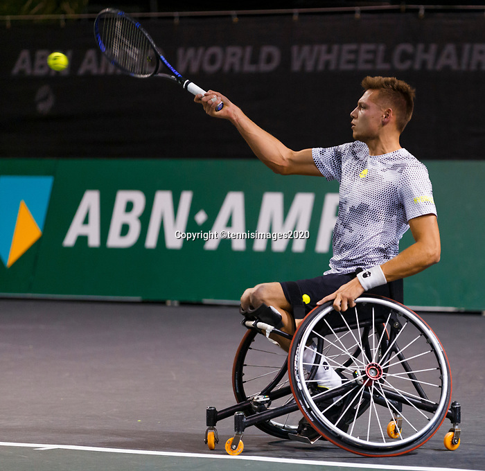 Rotterdam, The Netherlands, 12 Februari 2020, ABNAMRO World Tennis Tournament, Ahoy. Wheelchair: Ruben Spaargaren (NED).<br /> Photo: www.tennisimages.com