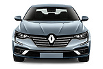 Car photography straight front view of a 2021 Renault Talisman Intens 4 Door Sedan Front View
