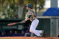 Slippery Rock Tyler Walters (15) during a game against the Kentucky Wesleyan Panthers on March 9, 2015 at Jack Russell Stadium in Clearwater, Florida.  Kentucky Wesleyan defeated Slippery Rock 5-4.  (Mike Janes/Four Seam Images)