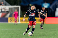 FOXBOROUGH, MA - AUGUST 18: Tommy McNamara #26 of New England Revolution passes the ball during a game between D.C. United and New England Revolution at Gillette Stadium on August 18, 2021 in Foxborough, Massachusetts.