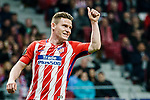 Kevin Gameiro of Atletico de Madrid gestures during the UEFA Europa League quarter final leg one match between Atletico Madrid and Sporting CP at Wanda Metropolitano on April 5, 2018 in Madrid, Spain. Photo by Diego Souto / Power Sport Images