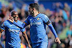 Getafe CF's  Jorge Molina celebrates goal  during La Liga match. February 09,2019. (ALTERPHOTOS/Alconada)