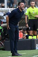 Roberto D'aversa coach of UC Sampdoria reacts during the Serie A football match between UC Sampdoria and FC Internazionale at stadio Marassi in Genova (Italy), September 12th, 2021. Photo Image Sport / Insidefoto