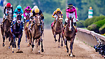 May 18, 2019 : Tyler Gaffalione celebrates after War of Will #1 won the Preakness Stakes on Preakness Day at Pimlico Race Course in Baltimore, Maryland. Carlos Calo/Eclipse Sportswire/CSM