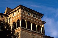 Italien, Umbrien, Loggia am etruskischen Tor in Perugia