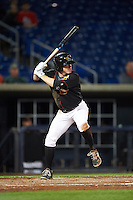 Quad Cities River Bandits outfielder Drew Ferguson (19) at bat during the second game of a doubleheader against the Wisconsin Timber Rattlers on August 19, 2015 at Modern Woodmen Park in Davenport, Iowa.  Quad Cities defeated Wisconsin 8-1.  (Mike Janes/Four Seam Images)