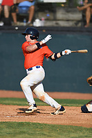 Ben Rozenblum (7) (Florida International) of the Kingsport Axemen during a game against the Bristol State Liners on June 13, 2021 at Boyce Cox Field in Bristol, Virginia. (Tracy Proffitt/Four Seam Images
