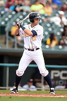 Montgomery Biscuits third baseman Richie Shaffer (12) during a game against the Mississippi Braves on April 22, 2014 at Riverwalk Stadium in Montgomery, Alabama.  Mississippi defeated Montgomery 6-2.  (Mike Janes/Four Seam Images)