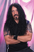 SUNRISE, FL - JULY 6 : Frankie Banali of Quiet Riot during a photo session at the Sunrise Theater on July 6, 2001 in Sunrise, Florida. Credit Larry Marano (C) 2001