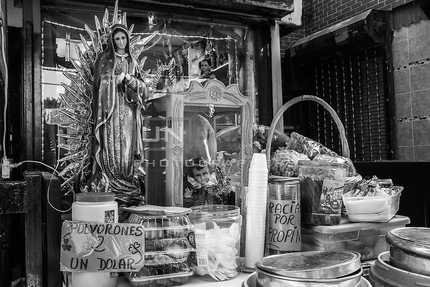 Latin American community is tied to Christian religion.  Corona, Queens, New York.