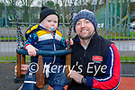 Little Luke and Liam Stack enjoying the playground in the Listowel town park on Saturday.