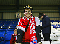 Fleetwood Town's fan ahead of the The Checkatrade Trophy match between Bury and Fleetwood Town at Gigg Lane, Bury, England on 9 January 2018. Photo by Juel Miah/PRiME Media Images.