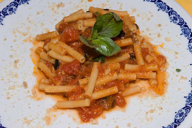 Penne and Tomato Sauce, Sabatini Restaurant, Florence, Tuscany, Italy