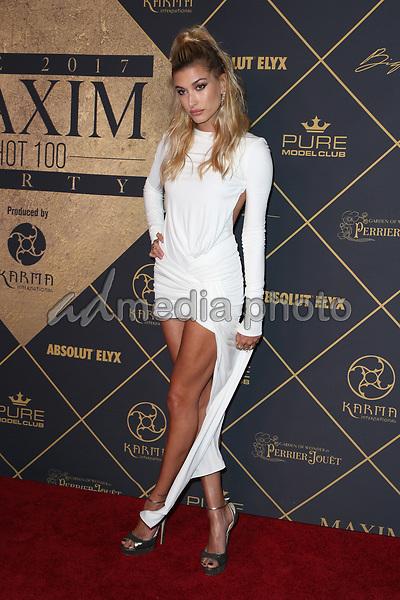 25 June 2017 - Hollywood, California - Hailey Baldwin. 2017 MAXIM Hot 100 Party held at the Hollywood Palladium. Photo Credit: F. Sadou/AdMedia
