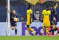 18th March 2021; Zagreb, Croatia;  Mislav Orsic of Dinamo Zagreb celebrates scoring for 3-0 during the UEFA Europa League Round of 16 Second Leg match between Dinamo Zagreb and Tottenham Hotspur at Maksimir stadium