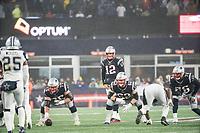 FOXBOROUGH, MA - NOVEMBER 24: New England Patriots Quarterback Tom Brady #12 calls for the snap during a game between Dallas Cowboys and New England Patriots at Gillettes on November 24, 2019 in Foxborough, Massachusetts.