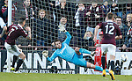 Jamie Walker scores the second goal for Hearts from the penalty spot