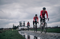 Jens Keukeleire (BEL/Lotto-Soudal)<br /> <br /> parcours recon of the 116th Paris-Roubaix 2018, 3 days prior to the race