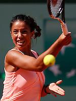 Tenis, Junior Roland Garros 2011.Natalija Kostic (SRB) Vs. Victoria Duval (USA).Natalija Kostic, returns the ball.Paris, 01.06.2011..foto: Srdjan Stevanovic/Starsportphoto ©