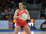 Wales Nia Jones in action during todays match   <br /> <br /> Swansea University International Netball Test Series: Wales v New Zealand<br /> Ice Arena Wales<br /> 08.02.17<br /> ©Ian Cook - Sportingwales