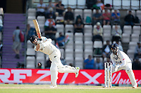 Kane Williamson, New Zealand hits Ravindra Jadeja, India through wide mid wicket for four runs during India vs New Zealand, ICC World Test Championship Final Cricket at The Hampshire Bowl on 23rd June 2021