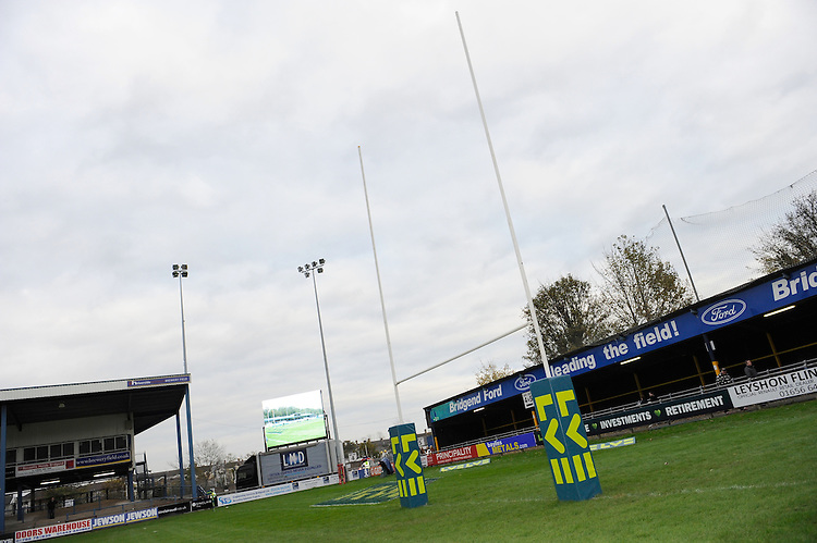 Corporate branding at the LV= Cup second round match between Ospreys and Northampton Saints at Riverside Hardware Brewery Field, Bridgend (Photo by Rob Munro)
