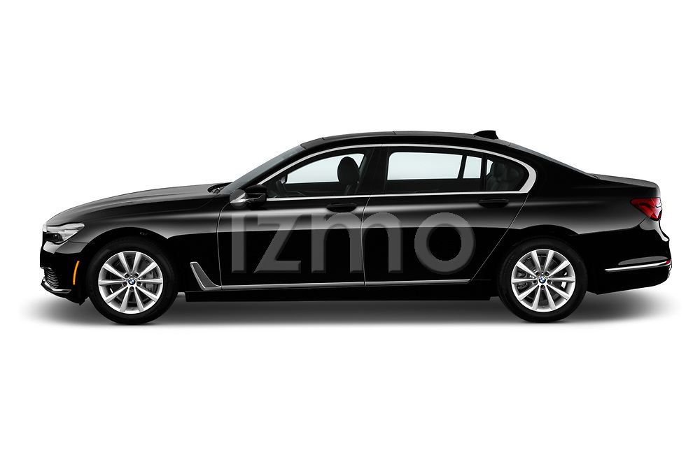 Car Driver side profile view of a 2019 BMW 7-Series 740i 4 Door Sedan Side View