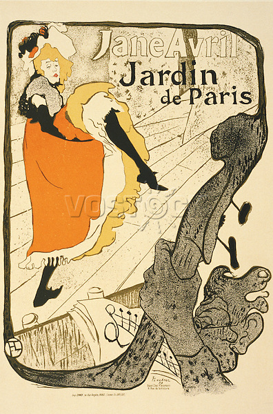 Jane Avril, 1893 (litho), Toulouse-Lautrec, Henri de (1864-1901) / San Diego Museum of Art, USA / Gift of the Baldwin M. Baldwin Foundation