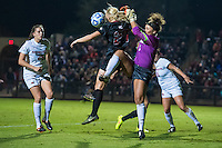 STANFORD, CA - November 21, 2014: Taylor Uhl during the Stanford vs Arkansas women's second round NCAA soccer match in Stanford, California.  The Cardinal defeated the Razorbacks 1-0.