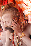 Naga sadhus take a vow of poverty, but accept alms to survive……….