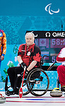 Jim Armstrong, Sochi 2014 - Wheelchair Curling // Curling en fauteuil roulant.<br /> Canada takes on Russia during round robin play // Le Canada affronte la Russie lors du tournoi à la ronde. 08/03/2014.