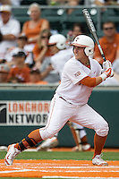 Texas Longhorns outfielder Mark Payton #2 at bat during the NCAA baseball game against the Oklahoma State Cowboys on April 26, 2014 at UFCU Disch–Falk Field in Austin, Texas. The Cowboys defeated the Longhorns 2-1. (Andrew Woolley/Four Seam Images)