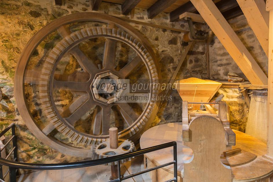 France, Bretagne, (29), Finistère, Cap Sizun, Beuzec-Cap-Sizun: Moulin de Kériolet, ce moulin a eau se trouve dans le vallon du Kériolet dans la zone protégée de la pointe du Millier - Ce moulin produit de la farine de blé noir et sarrazin - Jean Philippe Marcadon meunier //  / France, Brittany, Car Sizun, Beuzec Cap Sizun:  Kériolet mill, this water mill is in the Kériolet valley in the protected area of Pointe du Millier - This mill produces flour buckwheat and buckwheat - Jean Philippe Marcadon miller [Autorisation : 2015-103]