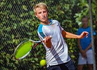 Hilversum, Netherlands, August 6, 2018, National Junior Championships, NJK, Sven van Dijk (NED)<br /> Photo: Tennisimages/Henk Koster