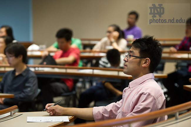 Jul. 19, 2012; Chinese students from Fudan University attend a Mendoza College business law class led by Jaime O'Brien...Photo by Matt Cashore/University of Notre Dame