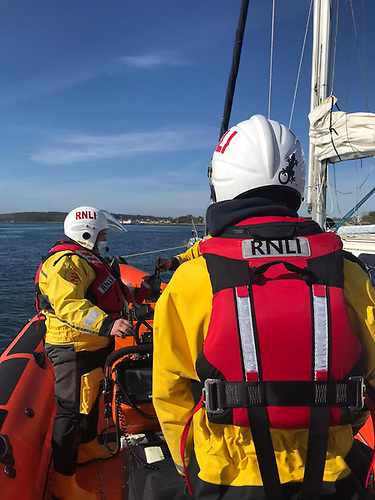 The RNLI lifeboat took the vessel under tow and ensured their safe arrival at the Portaferry marina