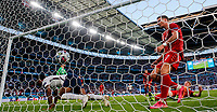 7th July 2021, Wembley Stadium, London, England; 2020 European Football Championships (delayed) semi-final, England versus Denmark; Denmarks Simon Kjaer deflects a cross for an own goal during the semifinal between England and Denmark