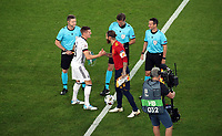 3rd September 2020; Stuttgart, Germany; UEFA Nations League football, Germany versus Spain;  Toni Kroos Germany and Sergio Ramos Spain greet in the centre pre-game
