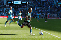 ST PAUL, MN - AUGUST 14: Julian Araujo #2 of the Los Angeles Galaxy kicks the ball during a game between Los Angeles Galaxy and Minnesota United FC at Allianz Field on August 14, 2021 in St Paul, Minnesota.