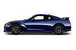 Car driver side profile view of a 2018 Nissan GT-R Track Edition 5 Door Coupe