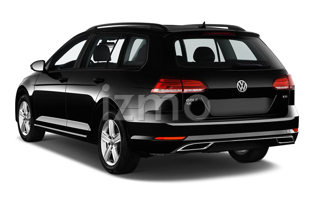 Car pictures of rear three quarter view of a 2018 Volkswagen Golf SportWagen SE 5 Door Wagon angular rear