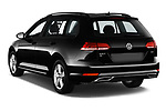 Car pictures of rear three quarter view of a 2018 Volkswagen Golf SportWagen SE 5 Door Wagon angular rear